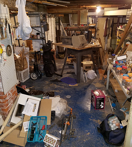 Estate Basement Clean Outs Before
